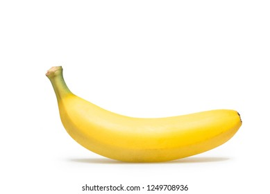 One banana isolated on a white background