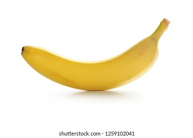 One banana on a pure white background.
