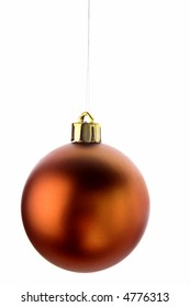 One bauble isolated on white background