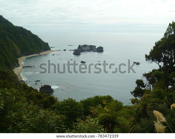 One of bays on the West Coast, New Zealand