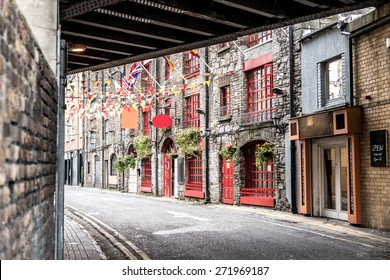 One beautiful  street  in Dublin, Ireland