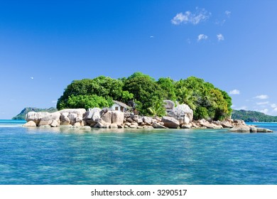 One Beautisul Island of Seychelles Islands in Indian Ocean