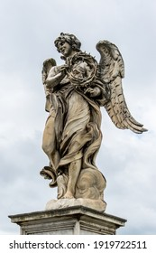 One of Bernini's statues located on the Ponte Sant'Angelo in Rome