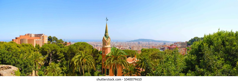 One of the best places to get a view of Barcelona is from the top of Park Guell. The park was one of Gaudi's major works and features gardens and architectonic elements.