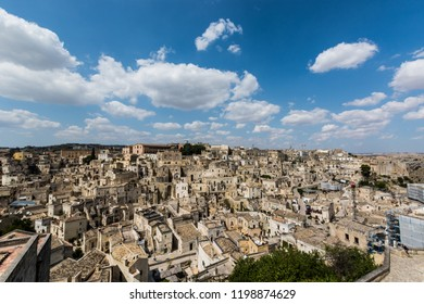 One of the best pont of view on the city of Matera, Basilicata, Italy. It is the capital of the province of Matera and was the capital of Basilicata from 1663 to 1806. The town lies in a small canyon.
