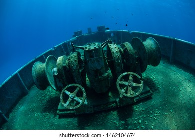 one of the best-known wreck dives in the Caribbean Sea, lies upright. The 251-foot long ship was sunk off the coast of Grand Cayman in 2011 in order to create an artificial reef.