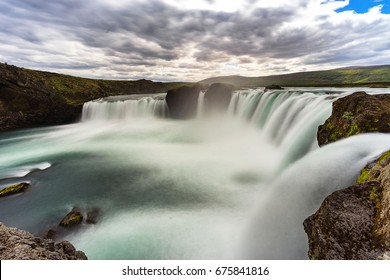One of the biggest waterfall of Iceland Godafoss