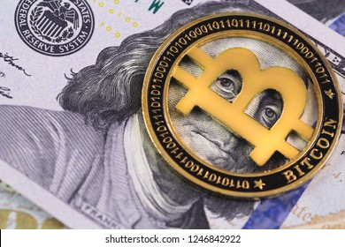one bitcoin with dollars