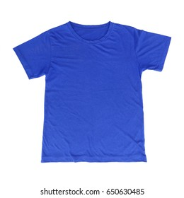 it is one blue t shirt isolated on white.