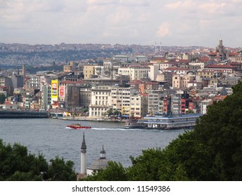 One of bottlenecks of Bosporus. Istanbul. Turkey.