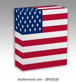 One Box with the American flag printed
