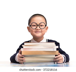 one boy hold the book