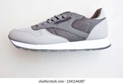 One brand new sport shoe on the white background