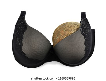 One breast breast cancer concept half empty bra after amputation surgery