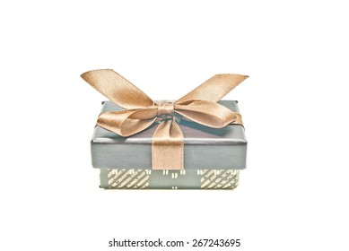 one brown gift box on white background