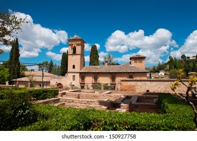 One of the buildings of Alhambra castle (Granada, Spain)