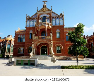 One of the buildings in the historic Sant Pau hospital in Barcelona.