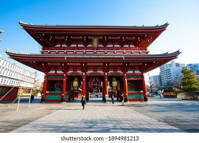 One of the buildings of the Senso-ji Temple on March 24, 2014 in Asakusa, Tokyo, Japan.The Senso-ji Temple is the symbol of Asakusa and one of the most famous temples in Japan.
