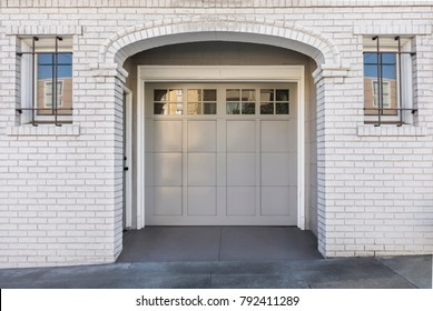 One car garage door that is secured from the outside