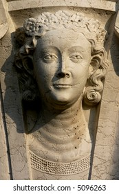 One of cathedral sculptures on San Mark's square. Venice. Italy.