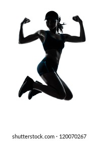 Woman Silhouette Fit Images Stock Photos Vectors Shutterstock Each image is a black silhouette for easy recoloring in your favorite image editing software. https www shutterstock com image photo one caucasian woman runner jogger jumping 120070267