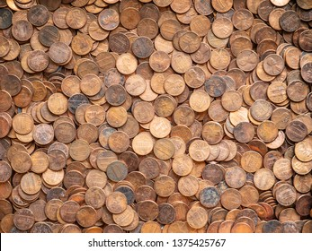 One Cent Pennies Texture, United States Currency