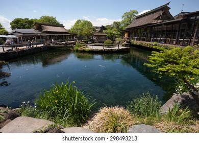 One of the construction heritage of Mount Fuji is a world heritage, Oshino Hakkai.