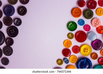In one corner there are black buttons, in another there are different colors. Be brighter, change, smile, look at life more cheerfully! The arrangement is diagonal.