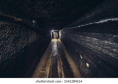 One of the corridors of Cacica Salt Mine in Romania