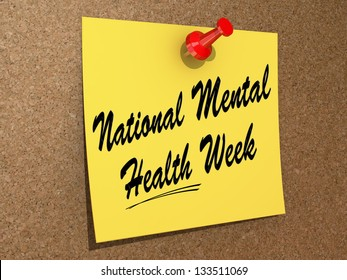 """One day Calendar with """"National Mental Health Week"""" on a white background"""