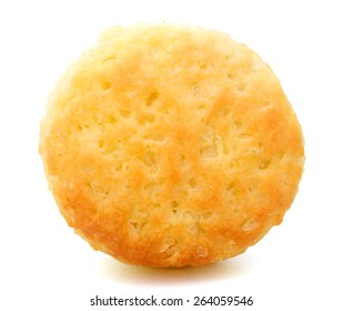 one delicious biscuit on white background