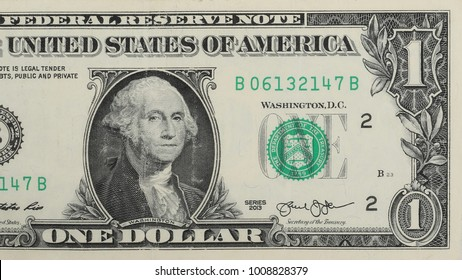 One dollar bill, isolated on white background