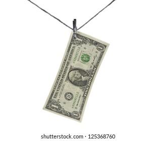 one dollar bill in limbo