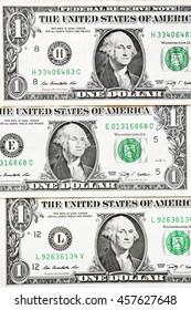 One dollar bills for background