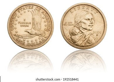 One Dollar Coin, The Obverse and Reverse, U.S. Coins and Currency, Used Coin, Numismatics