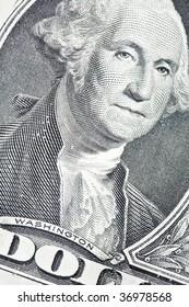 One dollar detail closeup shot
