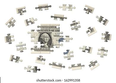 One dollar jigsaw