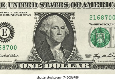 One Dollar With One Note. 1 Dollars.