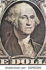 One dollar portrait of Washington