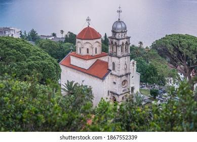 One of the Dormition churches of Savina Orthodox monastery in Herceg Novi coastal town in Montenegro