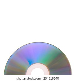 One DVD, CD Isolated on White Background