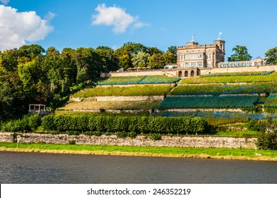 one of the Elbe palaces Lingner palace in Dresden