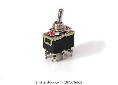 one electronic toggle isolated on white