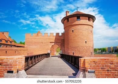 One of the Entrances into Malbork Castle also called as Marienburg, Teutonic Order, Pomerania, Poland.