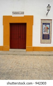 One of the entrances of Sevilla's bullfighting arena