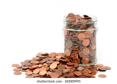 One Euro-cent coins in