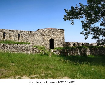 One of extant towers of medieval Shusha castle in Shusha, Nagorno-Karabakh Republic. Fortress is included in Shusha State Historical & Architectural Reserve