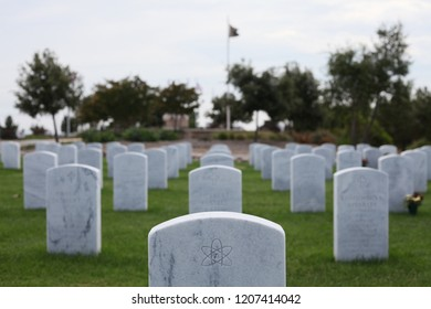 One of the few atheist headstones at a military cemetery.