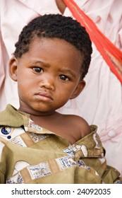 One of the few remaining Basarwa, San, or simply Bushman, the indigenous people of Kalahari.