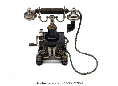 One of the first models of telephone, a technological revolution